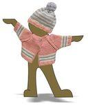 Вязаный жакет и шапочка с помпоном - Демонстрационный образец. Одежда для кукол, пупсов и мягких игрушек.