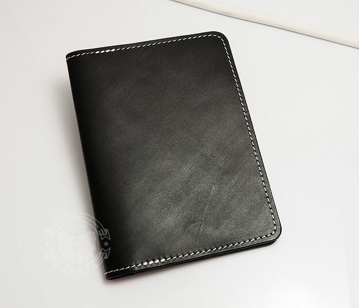 WB134-1 Кошелек с отделением для паспорта, карт и окошком. «Boroda Design» фото 02