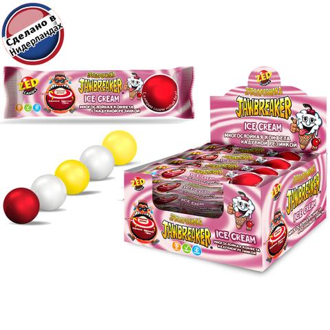 JAWBREAKER Зубодробилка Ice Cream многослойная конфета с надувной резинкой 1кор*12бл*15 шт. 41 гр.