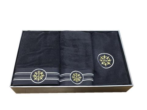 Набор полотенец  ELEGANGE - ЭЛЕГАНЗ  с ковриком серый Maison Dor (Турция)
