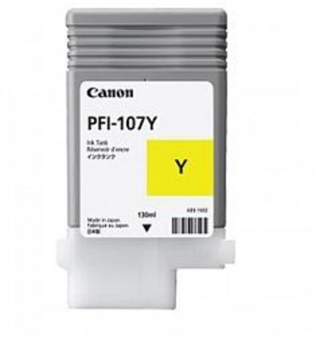 Картридж Canon PFI-107Y yellow (желтый) для Canon iPF660, iPF680, iPF685, iPF770, iPF780, iPF785