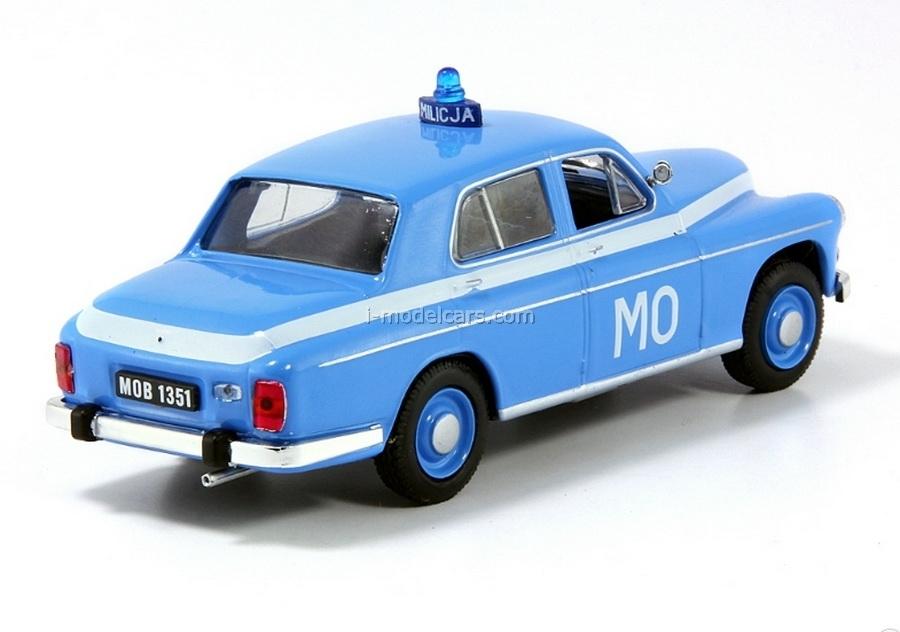 Warszawa 223 Poland People's Militia 1:43 DeAgostini World's Police Car #24