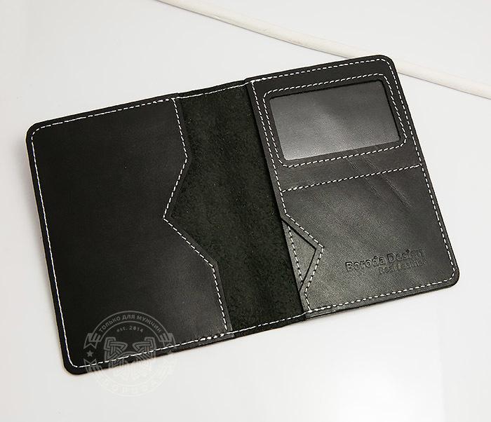 WB134-1 Кошелек с отделением для паспорта, карт и окошком. «Boroda Design» фото 04