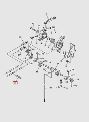 Держатель тросов для лодочного мотора T40 Sea-PRO (16-29)