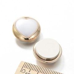 Магнит для платка (магнитная брошь) в форме сердца, золото