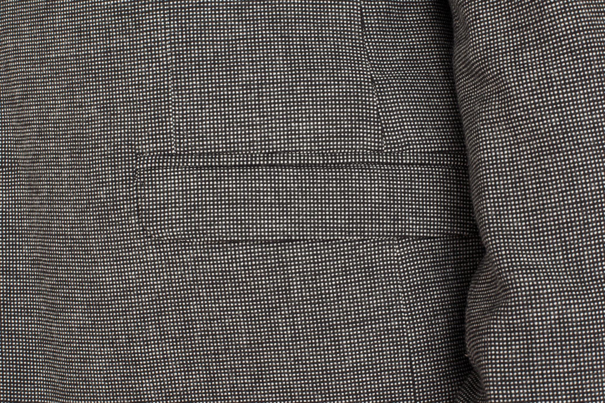 Серый хлопоковый пиджак, накладной карман