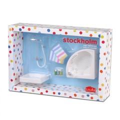 Мебель для домика Стокгольм Душевая и джакузи, Lundby