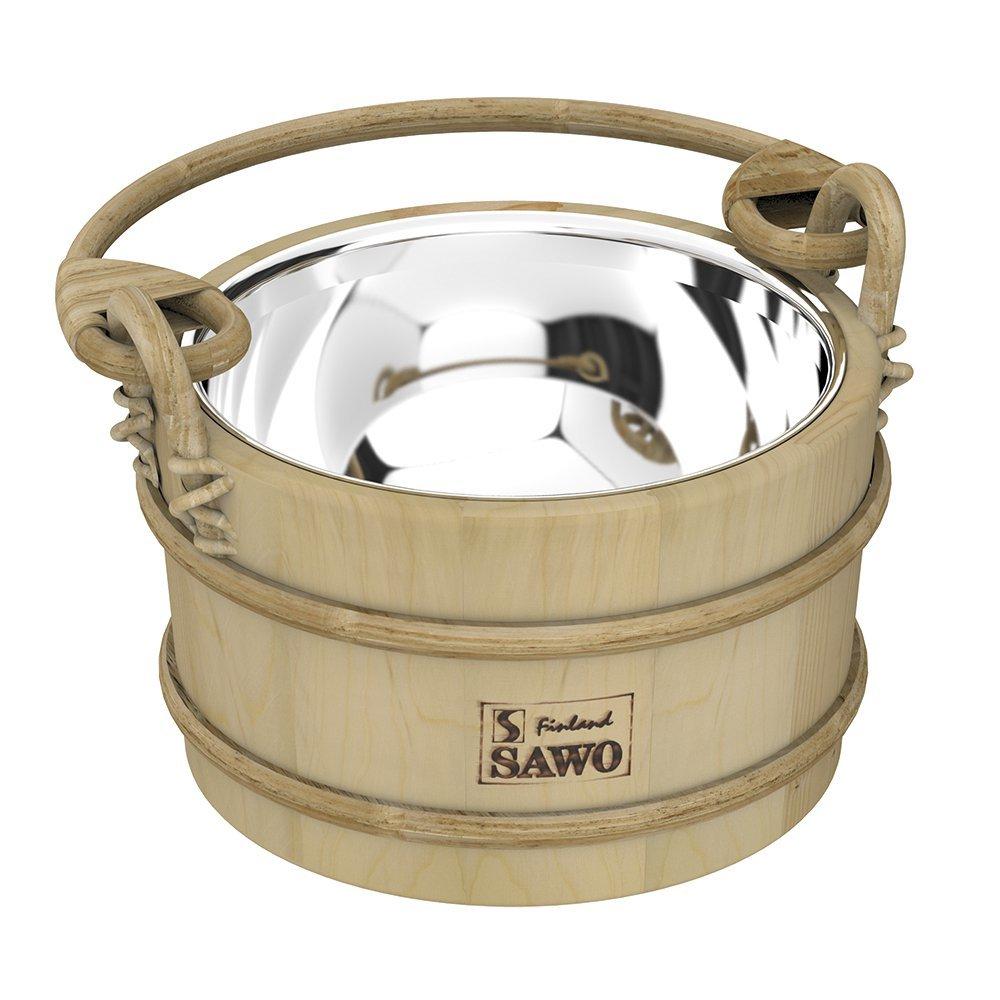 Фото - Ведра и кадушки: Ведро деревянное SAWO 341-MP (3 литра, со вставкой из нержавейки) ведра и кадушки кадушка деревянная sawo 330 p 3 литра с пластиковой вставкой