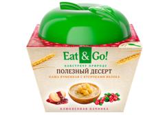 Каша ячменная с кусочками яблока Eat&Go!, 225г