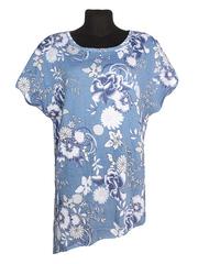 D17019-4 футболка женская, синяя