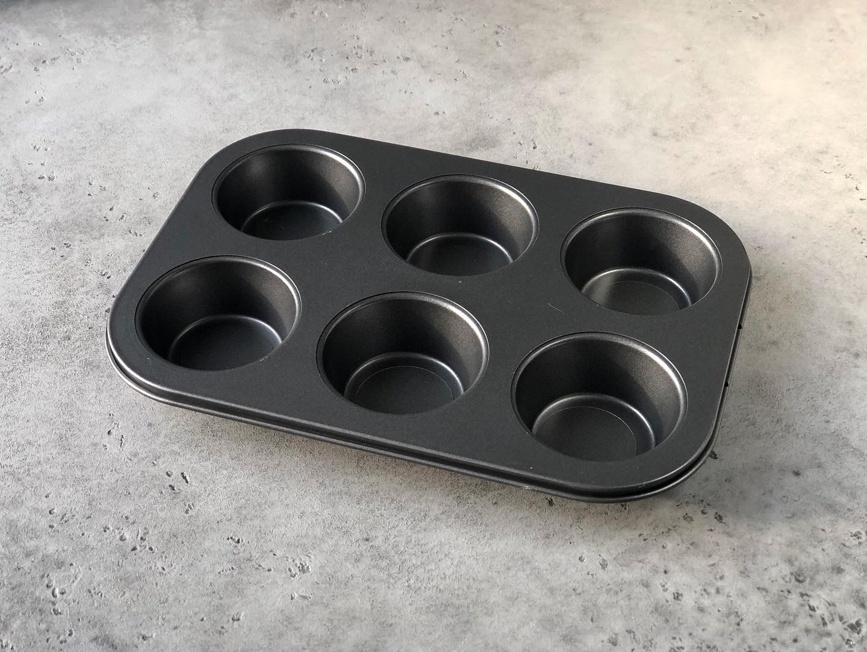 Форма для кексов, 6 шт с антипригарным покрытием, 7х7х3 см