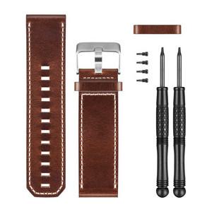 Ремешок кожаный Garmin Fenix 3 коричневый