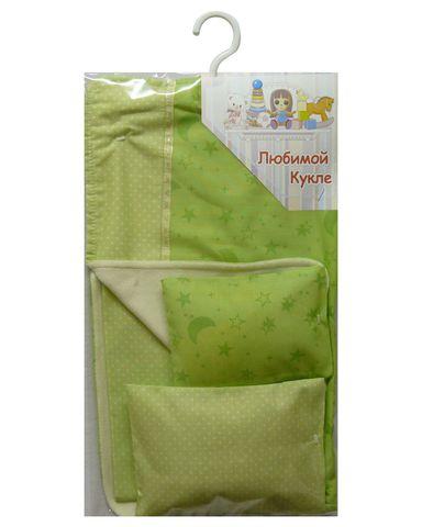 Постель - Зеленый. Одежда для кукол, пупсов и мягких игрушек.