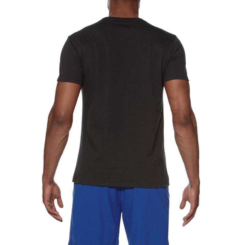 Мужская футболка с принтом Asics Graphic SS Top (131530 0904) черная фото