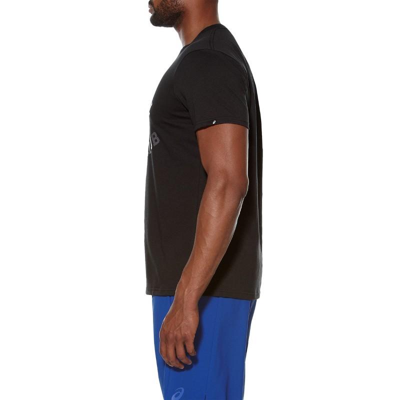 Мужская футболка для спортзала Asics Graphic SS Top (131530 0904) черная фото