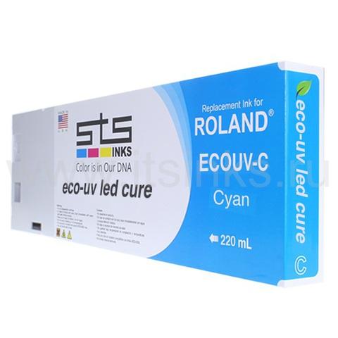 Картридж для Roland Eco - UV Cyan 220 мл