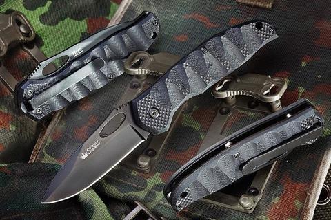 Складной нож Hero 440C Black Titanium