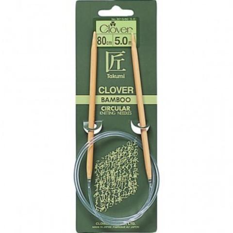 Clover Круговые бамбуковые спицы Takumi