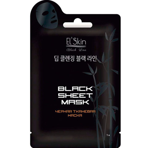 Skinlite Black Line Черная тканевая маска ES-913