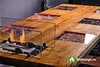Стол с биокамином в интерьере Firetable Six 2200MS