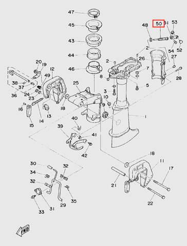 Винт фиксации дейдвуда для лодочного мотора  T5 Sea-PRO