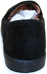 Черные лоферы женские замша