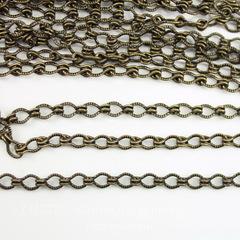 Винтажная цепь (звено 4х3 мм) (оксид латуни), 10 см