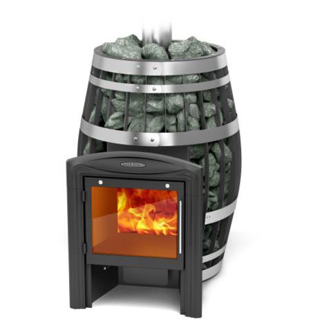 Банная печь-сетка Саяны XXL 2015 Inox Витра ЗК ТО в разрезе