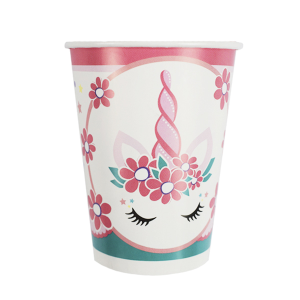 Стаканы бумажные Единорог Pink&Tiffany, 200 мл., 6шт