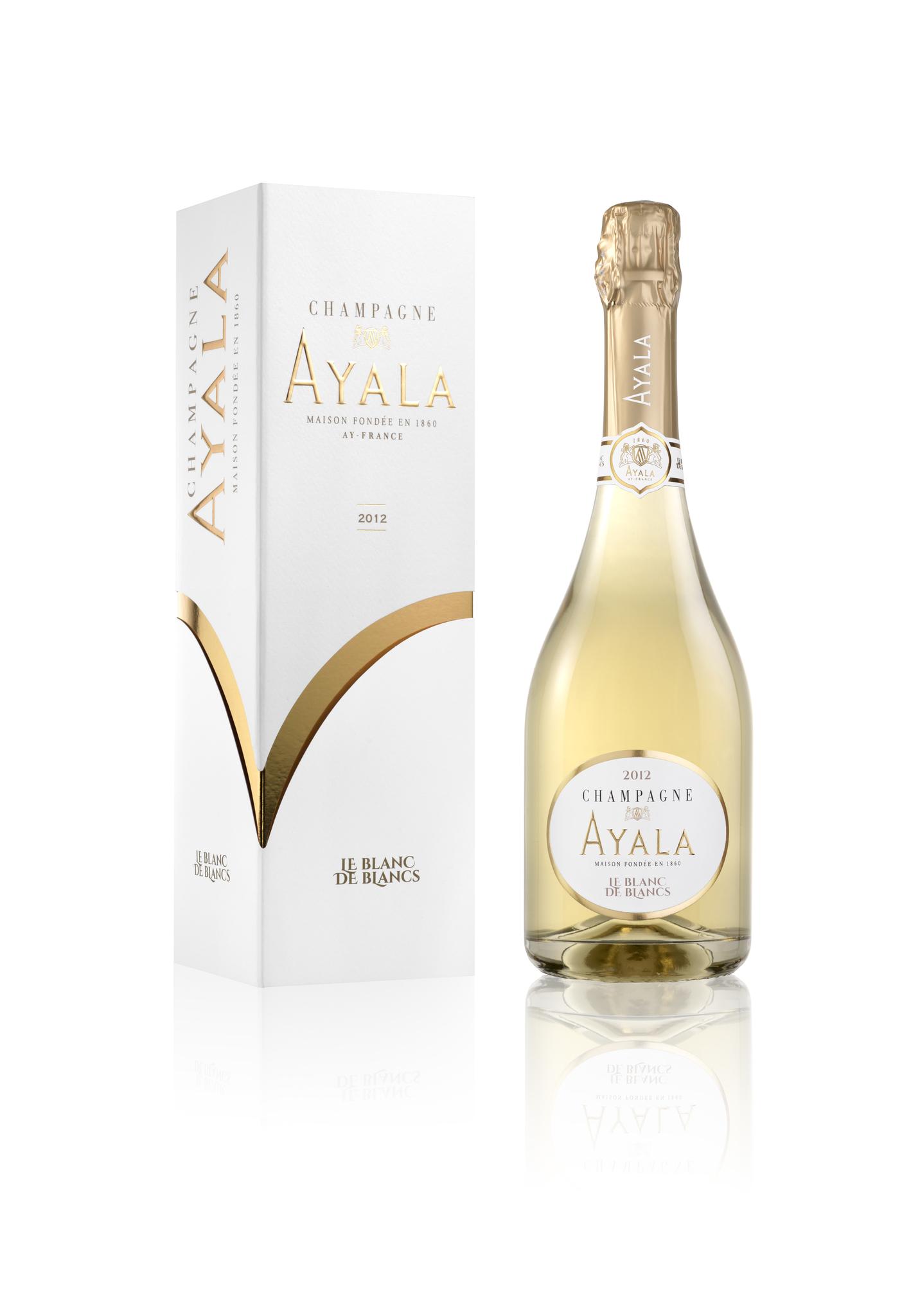 Ayala Blanc de Blancs Brut 2012  в подарочной упаковке