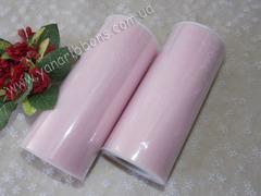 Фатин в рулончиках светло-розовый
