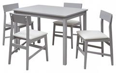Комплект ТDF-1509 + СDK-1144 (1+4) GREY (CP4365CF20-A)/CLASSIC WHITE экокожа белая — серый