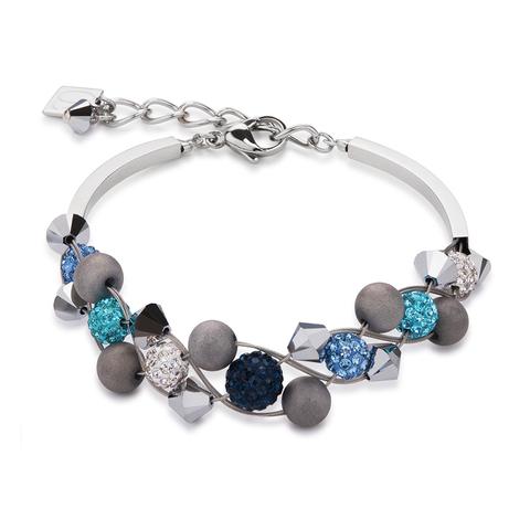 Браслет Coeur de Lion 4919/30-0706 цвет серый, синий, голубой