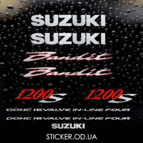 Набор виниловых наклеек на мотоцикл SUZUKI BANDIT 1200S, 2004