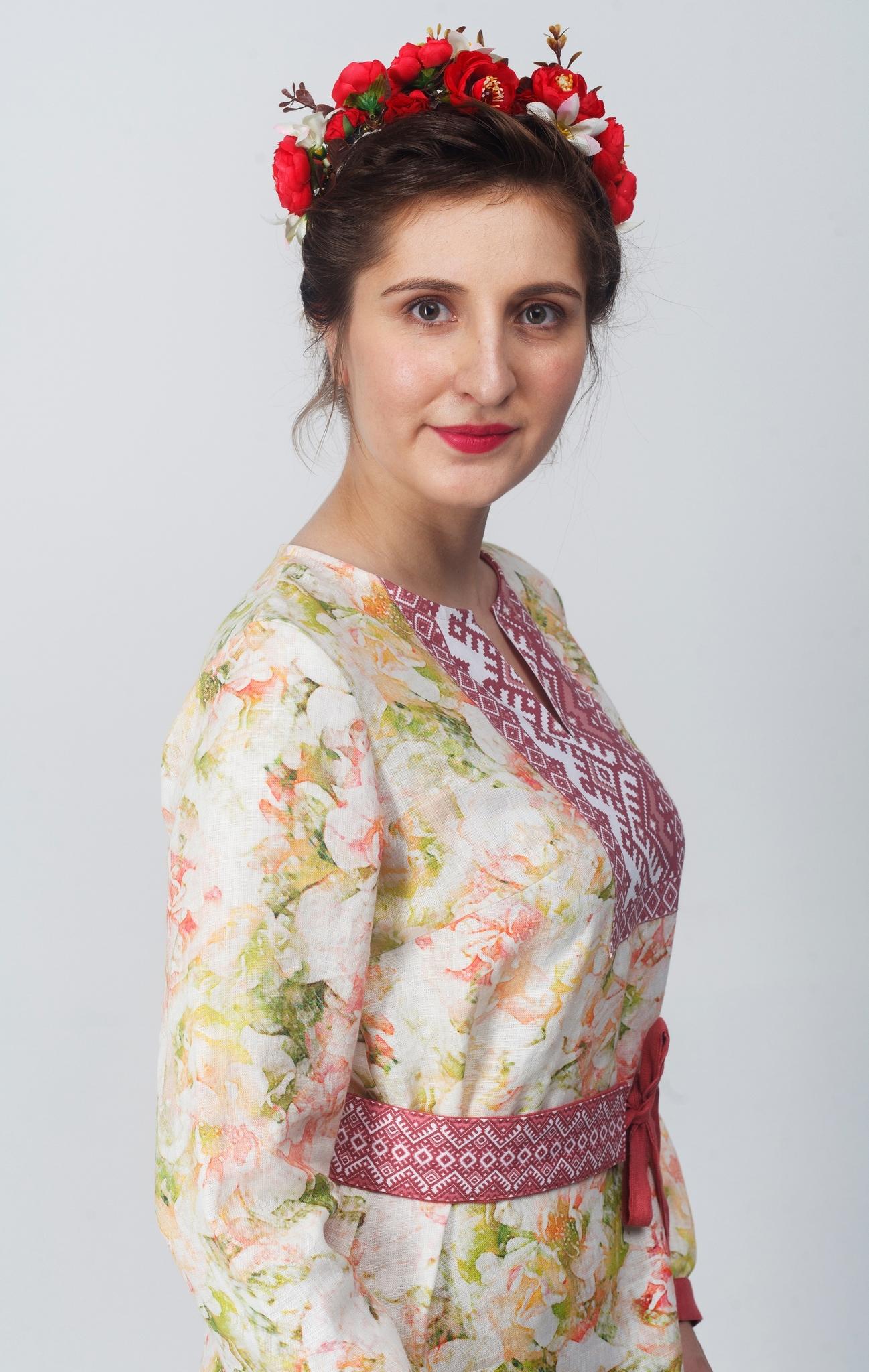 Платье Времена года Приближенный фрагмент