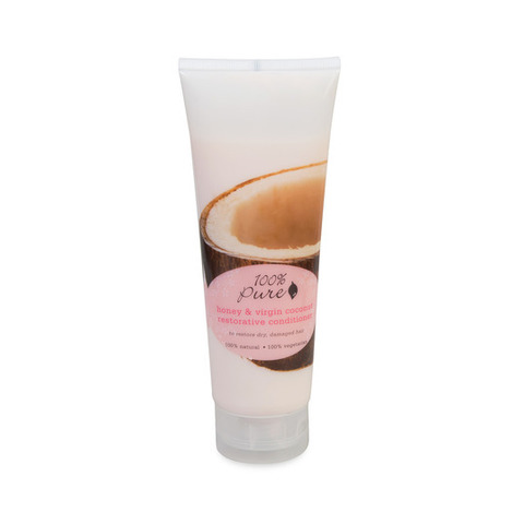100% Pure. Кондиционер для волос тонизирующий Мед и Молодой Кокос (236 мл)