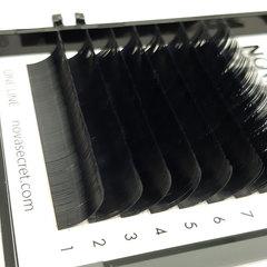 Ресницы Novasecret BLANC Черные, одна длина, изгиб D