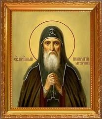 Панкратий Печерский, Преподобный, затворник, иеромонах. Икона на холсте.