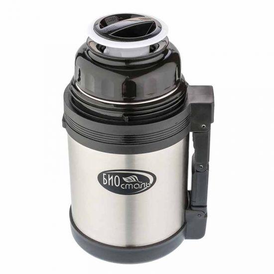 Термос универсальный (для еды и напитков) Biostal (1 литр), стальной*