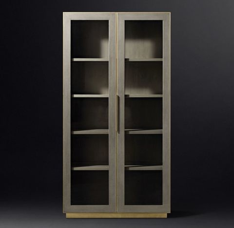 Cela Shagreen Glass Double-Door Cabinet