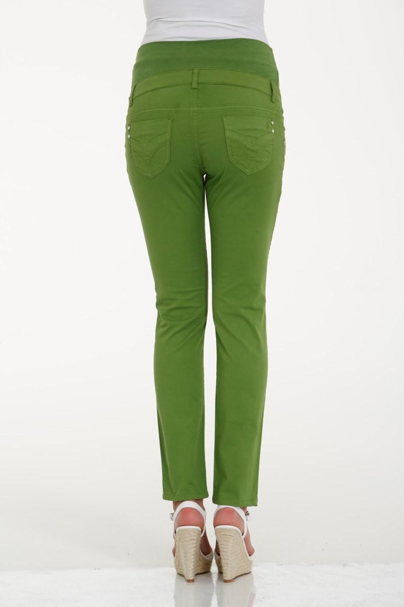 Брюки для беременных 02797 зеленый