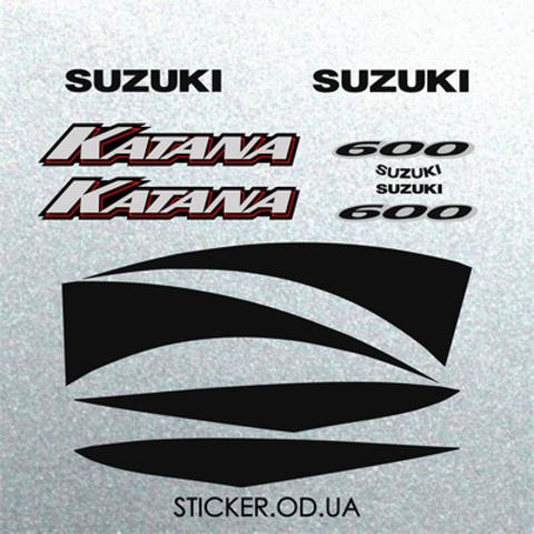 Набор наклеек на мотоцикл SUZUKI GSX-F 600 KATANA 2001