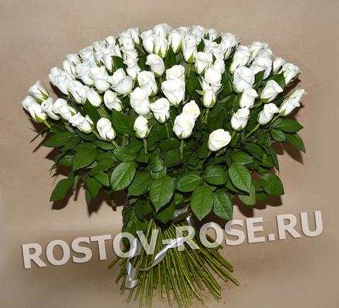 Букет 101 местная белая роза