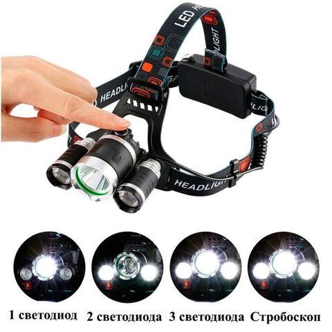 Аккумуляторный светодиодный налобный фонарь HL-003-T6