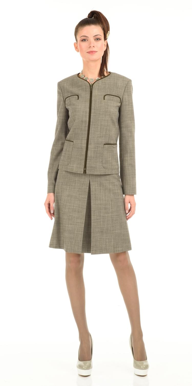 Жакет Д465-102 - Жакет прямого силуэта с застежкой-молнией и накладными карманами. Прекрасный вариант для офиса - сочетается со многими видами юбок и брюк. В повседневном образе будет отлично смотреться с джинсами.