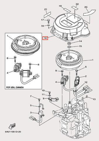 Корпус стартера для лодочного мотора F9,9 Sea-PRO (11-16)