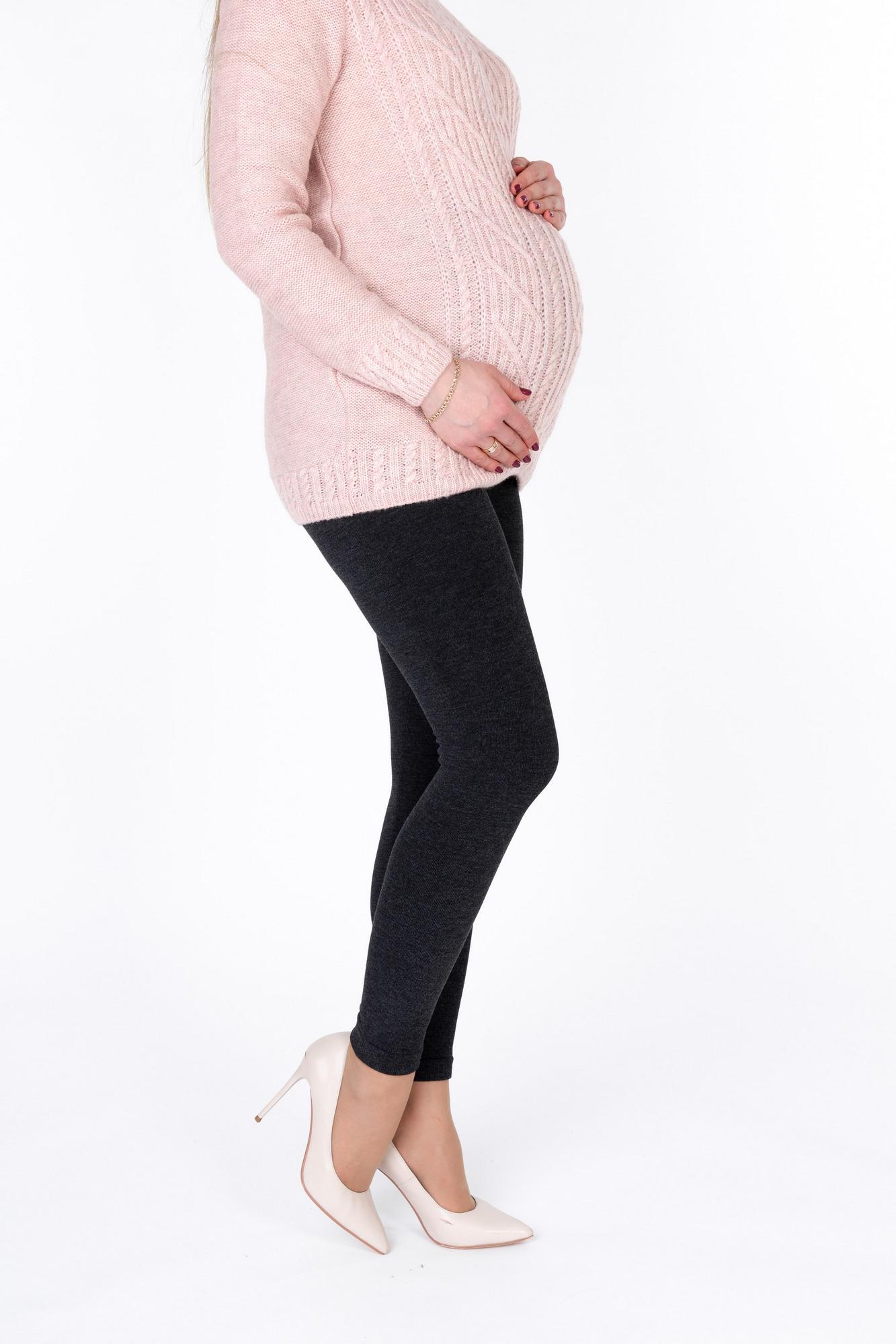 0d110ff6e57c Утепленные лосины для беременных 10023 черный | Магазин для ...