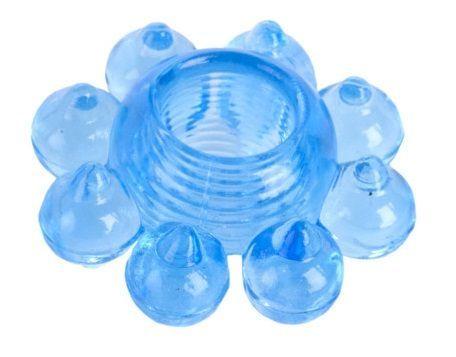Эрекционные кольца: Голубая гелевая насадка-цветок