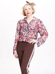 B2061-95z блузка женская, цветная