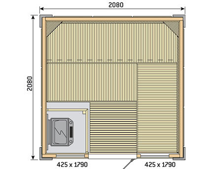 Готовая сауна Harvia Rubic S2121RC, фото 2